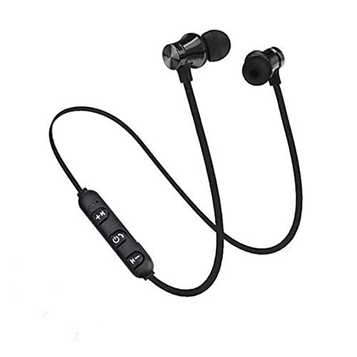 In-Ear Bluetooth Kopfhörer Kabellose Ohrhörer Kopfhörer Sport Magnetisches Ohrhörer Joggen Sportkopfhörer Unterwegs telefonieren und Musik hören (Black, 1)