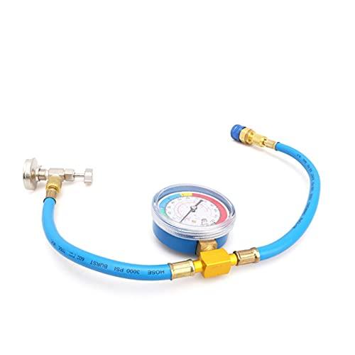 feifei 1 PC R134A R12 Manguera de plástico Metal Aire Acondicionado Frigorífico Recarga de refrigerante Kit de medición de Aire Aire Acondicionado Herramienta de reparación
