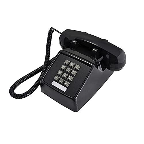 Téléphones Fixes avec Cordon Old Fashion Single Desk Home Téléphone avec Une Sonnerie Traditionnelle Forte pour Les Personnes âgées (Couleur : Black Telephone)