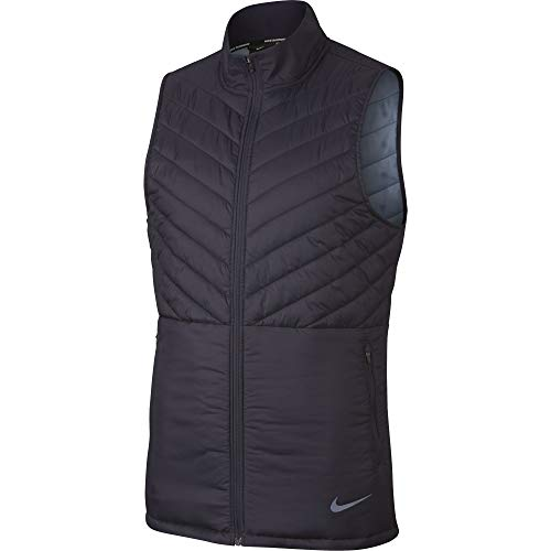 Nike Men's AeroLayer Run Vest Gridiron/Gridiron/Ashen Slate M
