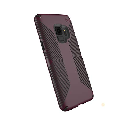 Speck Presidio Grip Samsung Galaxy S9 Case, Fig Purple/Ochre Black - 109509-7279