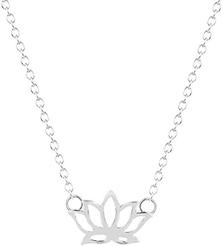 Fashion Flower Necklace Charm Lotus Pendants & Necklaces Jewelry Collar Colar for Statement Necklace Women Kids Gifts