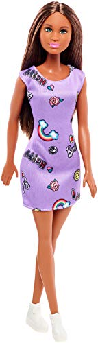 barbie trendy Barbie- Trendy con Abito-Stampato con Divertenti Icone