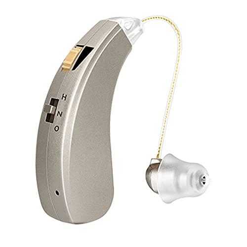 HWZZ Amplificador De Audición Dispositivos De Sonido Personales Digitales Recargables para Personas Mayores, con Cancelación De Ruido, Función De Control De Volumen,Right