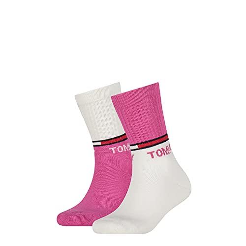 Tommy Hilfiger Unisex-Child Sport Kids Classic Sock, pink, 27/30