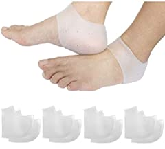 Value Pack: Pay less you will get 4 pairs of the breathable heel cups. Superior Raw Materials: Made of High elastic, durable, heat-resistant, aging-resistant, non-toxic SEBS material,more Soft and Comfortable. Just enjoying shopping, exercising. Uniq...