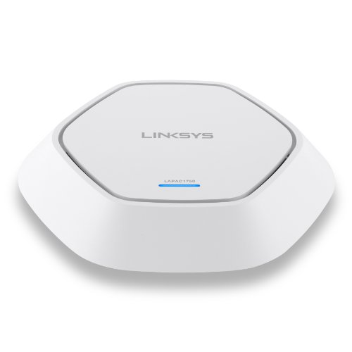 Linksys LAPAC-1750-EU AC1750 Access Point (1750 Mbit/s, PoE+, MIMO 3x3, Dual Band, Clustering) weiss