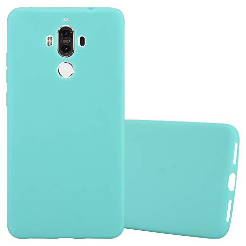 Cadorabo Funda para Huawei Mate 9 en Candy Azul - Cubierta Proteccíon de Silicona TPU Delgada e Flexible con Antichoque - Gel Case Cover Carcasa Ligera