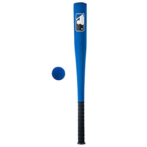 Franklin Sports MLB 27in Foam Bat & Ball Set - Kids Baseball and Bat Set - Includes Foam Bat and Ball - Officical MLB Licensed Product - Blue
