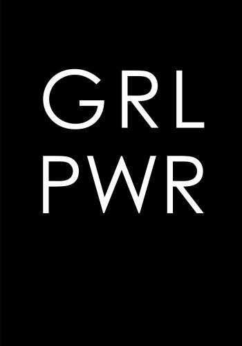 GRL PWR (Girl Power) Notebook (7 x 10 Inches): A Classic Ruled/Lined 7x10 Inch Notebook/Journal/Composition Book To Write In With Inspirational/Empowering Quote Cover (Black and White)