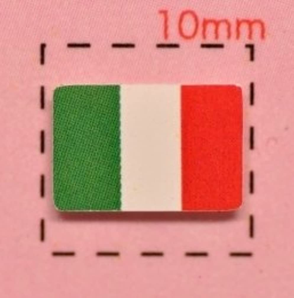 たくさんの是正するに同意する【イタリア国旗ネイルシール】トリコローレ/1シート12枚入