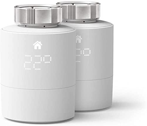 tado° Testa Termostatica Intelligente - Duo Pack, prodotto aggiuntivo per il controllo multi-stanza, gestione intelligente del riscaldamento, facile installazione fai da te