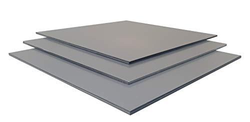 Alu-Verbundplatten Sandwichplatte DILITE® 3mm diverse Farben und Zuschnitte verbundplatte (750 x 610 mm, aluminiummetallic matt/matt)
