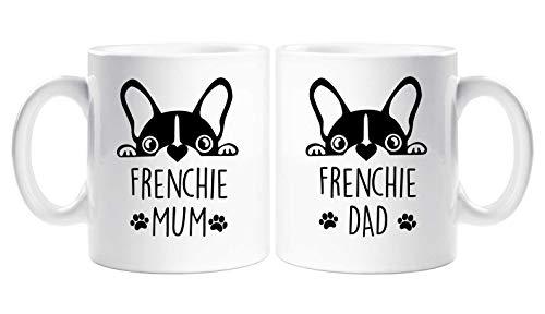 Honey Gifts Couples Mug Set Frenchie Mum Dad French Bull Dog Pet 11oz 15oz Ceramic Coffee Mug