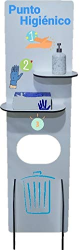 CORONAVIRUS. COVID. Expositor. Recibidor. Centro de Desinfección. Desinfectante. Punto Higiénico. Panel para guantes, gel ,mascarillas. Dispensador. Terrazas,oficinas,comercios,restaurantes,tiendas