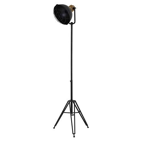 Light & Living Design vloerlamp driepoot 54 x 44,5x120-200 cm Yuri antiek zwart