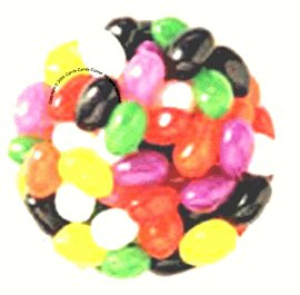 Just Born Assorted Fruit Jelly Beans (1 Lb - Approx 260 Pcs)