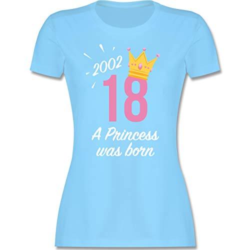 Geburtstag - 18 Geburtstag Mädchen Princess 2002 - S - Hellblau - t-Shirt Princess - L191 - Tailliertes Tshirt für Damen und Frauen T-Shirt