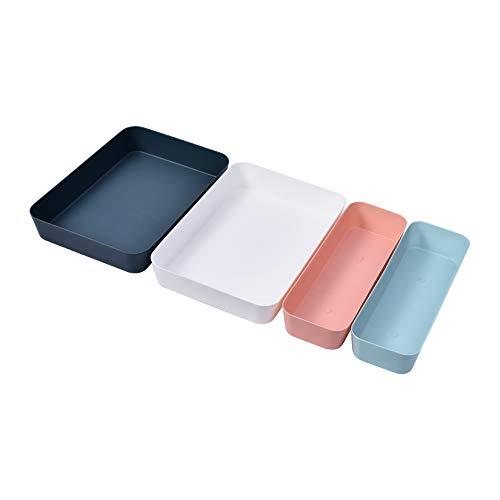 Zhaoke Schubladen Ordnungssystem, 4 St Plastik Schubladen Organizer Bunt Schubladeneinsatz für Schreibwaren Kosmetik #1