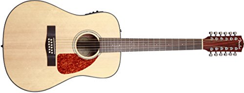 Fender CD-140SCE Dreadnought Acoustic Electric Guitar-Black