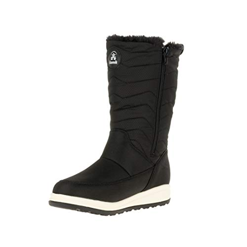 Kamik Women's Chrissy Zip Snow Shoe, Black, 9
