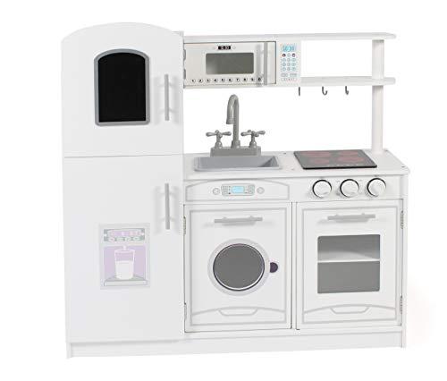 Bayer Chic 2000-Cucina Giocattolo in Legno per Bambini, Colore Bianco, 306 20