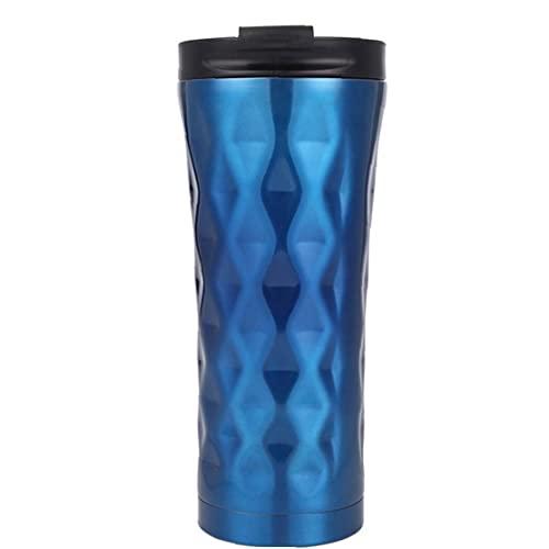 Taza del Viaje Taza de café, Acero Inoxidable 304 Thermo Ventosa Taza aislada, Reutilizable Frasco para el café/té, a Prueba de Fugas con Tapa, de Pared Doble, Libre de BPA, por frío /