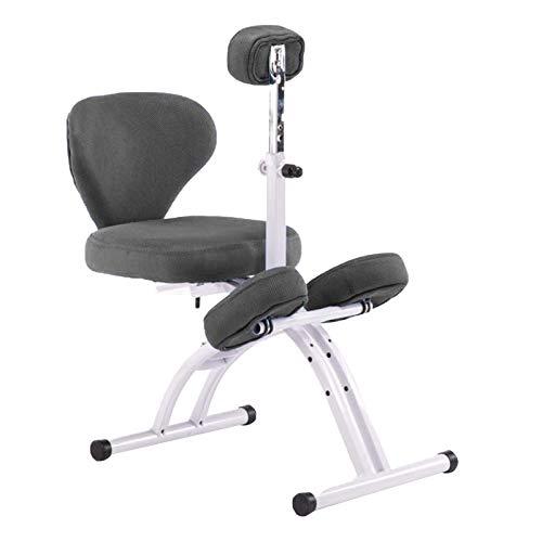 Bseack Kniestuhl Student-Schreibstuhl mit Heben-Brust-Protektor Der Sitz kann einen flachen Haltungskorrekturstuhl für Kinder höhenverstellbarer ergonomischer Knienstuhl mit Rückenlehne gelegt Werden