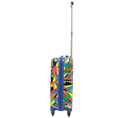 Aerolite Lightweight Polycarbonate Hard Shell 4 Wheel Hand Cabin Luggage Suitcase, Carnival