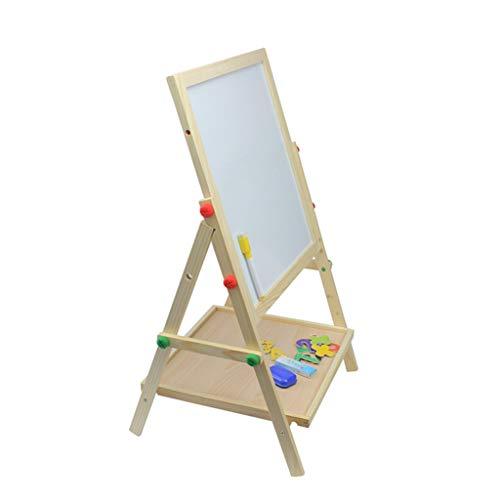 RUNWEI Le Petit Tableau magnétique Double Face Peut être élevé et abaissé pour Les Enfants avec chevalet d'apprentissage (68.5x35cm) (Color : White)
