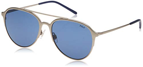 Ralph Lauren Polo 0PH3115 Occhiali da Sole, Grigio (Semi Shiny Brushed Silver), 58 Uomo