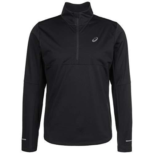 ASICS Windblock 1/2 Zip - Camiseta de Running para Hombre, Color Negro, tamaño Extra-Large