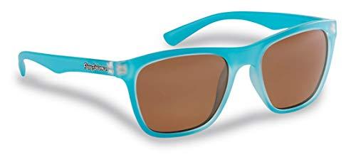 Flying Fisherman Fowey Polarisierte Sonnenbrille mit AcuTint UV-Blocker für Angeln und Outdoor-Sportarten, - Matt Crystal Azure Frames/Copper Lenses - Größe: Einheitsgröße