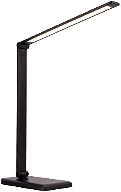 JSX Intelligente einfache Tischleuchte, kreative Aluminium-LED-Tischleuchte, geeignet für Schlafzimmer, Arbeitszimmer, 5-Fach-Geschwindigkeitsregler