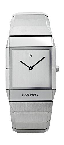 Jacob Jensen Orologio da polso, da uomo, mod. Sapphire, analogico, al quarzo, in acciaio inox, 552