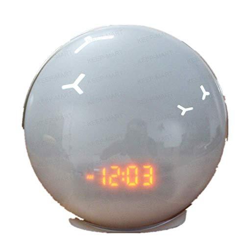 GYHJG Despertador Amanecer Atardecer Despertar Luz Despertador Electrónico Alexa Control De Sonido WiFi Despertar Luz Despertador Colorido Luz Nocturna Despertador