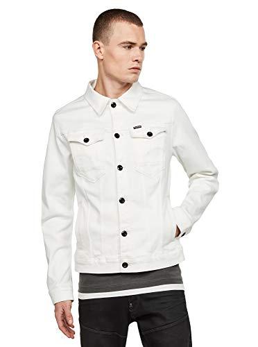 G-Star Raw Men's Arc 3D Slim Denim Jacket Sewn On, Milk, X-Large