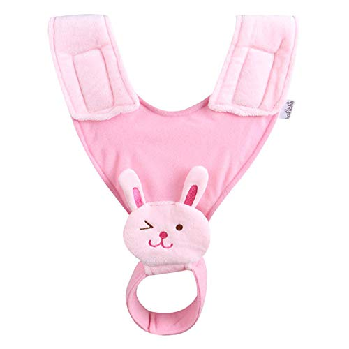 yijing Adjustable Baby Bottle Holder for Hands Free Bottle Feeding Hanging Stroller Bed Fixing Drink Feeding Bracket Strap Magic Sticker (Pink)