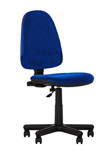 Silla de oficina ergonómica con respaldo reclinable. Sin reposabrazos. (azul)
