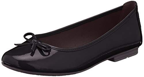 Jana Softline 8-8-22163-24, Ballerines Femme, Noir (Black Patent 018), 36 EU