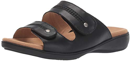 Trotters Women's VALE Sandal, Black, 6.5 W US
