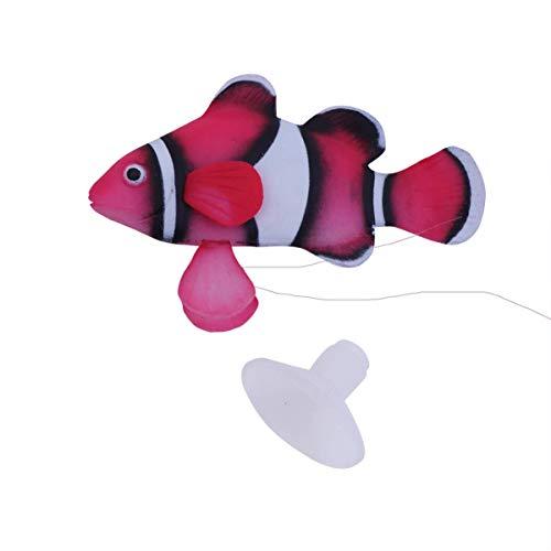 ZHTY 2 Stück künstliche Clownfische Aquarium Dekorationen - schwimmende Plastik Clownfische für Aquarium Dekorationen - Silikon künstliche Fische schwimmende Landschaft
