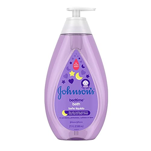 Johnson's Bedtime Baby Bath with Soothing NaturalCalm Aromas, Hypoallergenic & Tear Free...