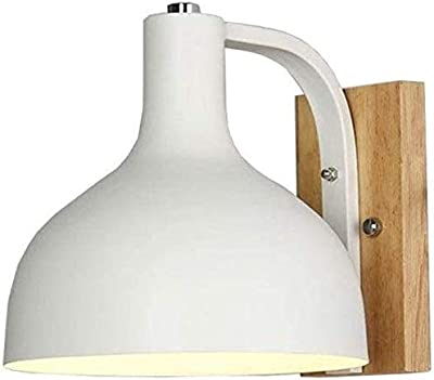 Lamparas Apliques Luces De Pared Lampara Pared Luces Apliques De Pared Lámpara De Pared Blanca Nórdica Para Sala De Estar E27 Luz De Pared De Dormitorio Aplique De Pared De Madera De