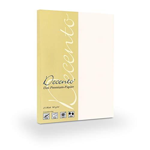 25 Blatt hochwertiges Decento® Bewerbungspapier Perlgrau 90 g/qm in 1A-Qualität mit hoher Opazität, Farbkontrast und Bildschärfe // direkt vom Hersteller STRATAG