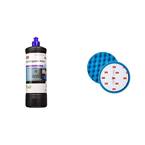 3M 50383 Perfect-it III Anti-Hologramm Politur, 1000 ml & Polierschaum Ultrafina SE Anti Hologramm 150mm 50388 2 Stück