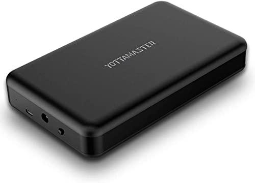 Yottamaster 3,5 Pollici Custodia per Disco Rigido Esterno, USB 3.1 Gen 2,10 Gbps, Adattatore USB C per SATA HDD da 3,5 Pollici, Senza Attrezzi [Supporta UASP & 10 TB]