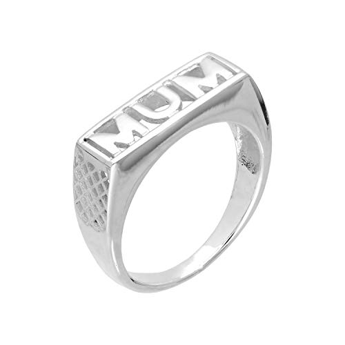 Sterling Silver Mum Ring Size Q