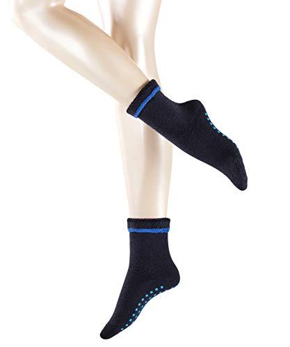 ESPRIT Damen Stoppersocken Cosy - Schurwoll-/Baumwollmischung, 1 Paar, Blau (Dark Navy 6375), Größe: 39-42