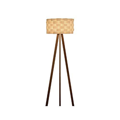 Cxjff Nordic Creative Wooden Bedroom Floor Hollow Sculpture Art Living Room Lámpara de pie